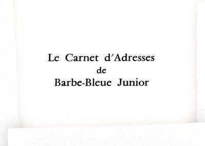 LE CARNET D'ADRESSE DE BARBE BLEUE JUNIOR