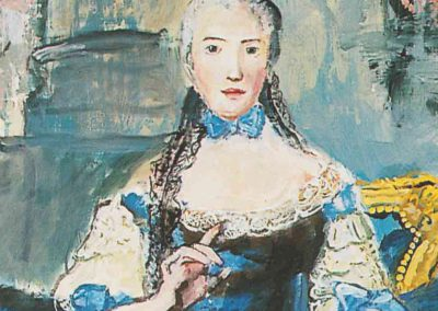JUSTE UNE PETITE GOUTTE POUR LA ROUTE D'APRES «MADAME ADELAIDE EN HABIT DE COUR TENANT UN LIVRE DE MUSIQUE» DE NATTIER 1758